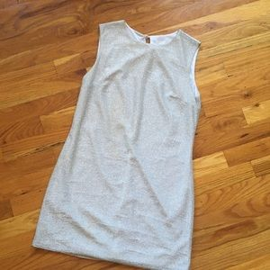 Vintage mini mod shift dress -silver